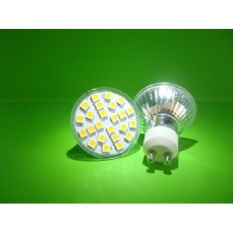 LED Spot GU10 24SMD 5050 Dimmable Λευκό